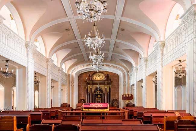 Kyiv has an ancient Jewish legacy. You can find a couple of synagogues within the city such as the Brodsky Choral Synagogue.