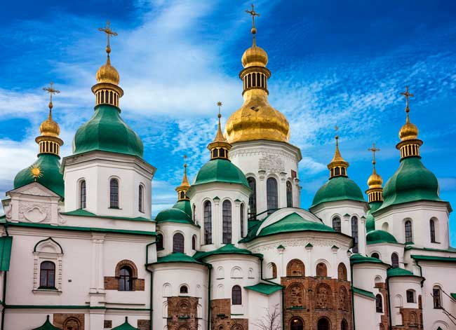 St. Sophia Cathedral is one the most outstanding Russian Orthodox churches you can find in Kyiv.